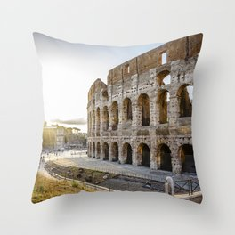 The Colosseum of Rome Throw Pillow