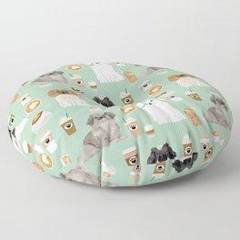 Pekingese dog breed dog pattern pet portraits coffee food dog breeds pet friendly Floor Pillow