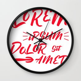 Lorem ipsum dolor sit amet Wall Clock