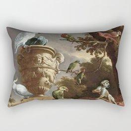 The Menagerie Melchior d'Hondecoeter 1690 Rectangular Pillow