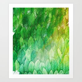 when the light hits the leaves Art Print