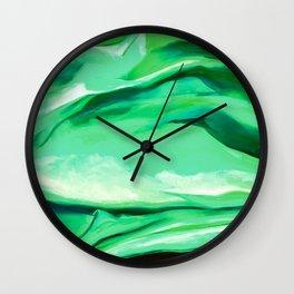 Green Abstract Painting Wall Clock