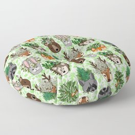 Woodland Wildflowers Animal Planters Floor Pillow