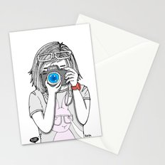 The heart and mind are the true lens of the camera. Stationery Cards