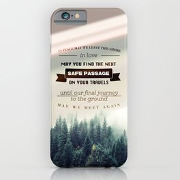 Traveler's Blessing #2 iPhone Case