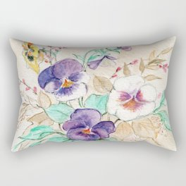 Pansies Bouquet Rectangular Pillow