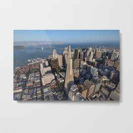 Aerial View of Downtown San Francisco Metal Print