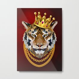 The King of Tigers Metal Print