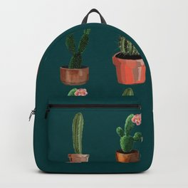 Various Cacti Green Backpack