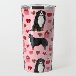 Bernese Mountain Dog custom valentines day gift for dog lover pet art love dogs Travel Mug