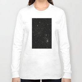 Universe Space Stars Planets Galaxy Black and White Long Sleeve T-shirt