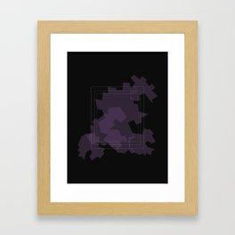Sad graphics perspectives Framed Art Print