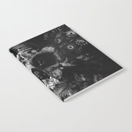 Garden Skull Dark B&W Notebook