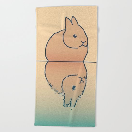 rabbit-74 Beach Towel