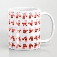 unicorns Mugs featuring Peppermint Unicorns by That's So Unicorny