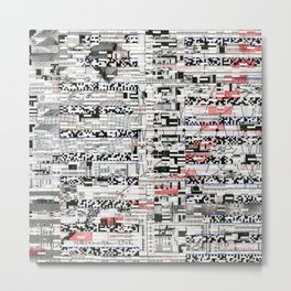 Pack Mule (P/D3 Glitch Collage Studies) Metal Print