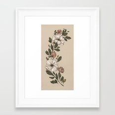 Floral Laurel Framed Art Print