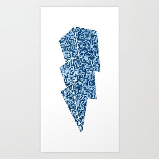 Lightning in Blue Art Print