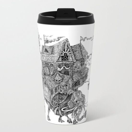 the wandering library 2 Metal Travel Mug
