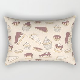 Chocolate Pastry Pattern Rectangular Pillow