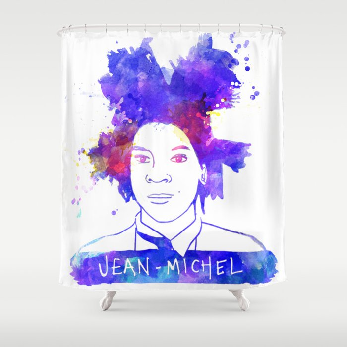 Jean Michel BASQUIAT Shower Curtain By Bigcolours