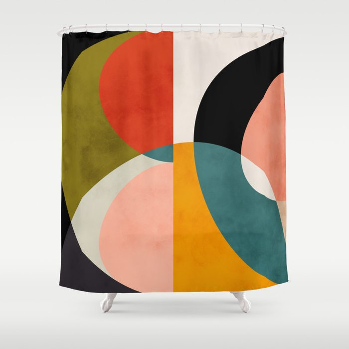 geometry shapes 3 Shower Curtain