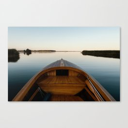 Summer Mornings On The Lake Canvas Print