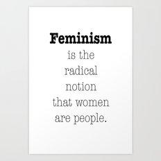 Feminism is... Art Print