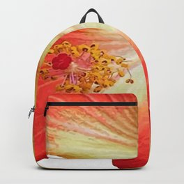 Gorgeous Red And Gold Hawaiian Hibiscus Flower No Text Backpack