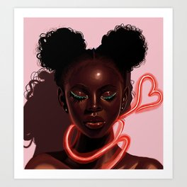 Melanin X Neon Art Print