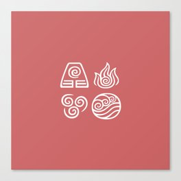 Bending All Four Elements – Fire Canvas Print