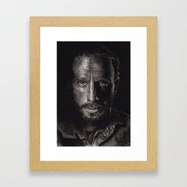The Walking Dead - Rick Grimes Framed Art Print