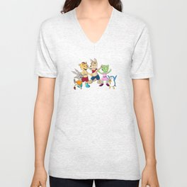 Ooboo and friends Characters Unisex V-Neck