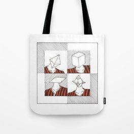 Ability to make your head any geometric shape Tote Bag