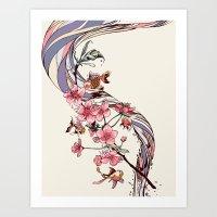 blossom Art Prints featuring Blossom by Huebucket