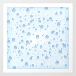 Water drops with background Art Print