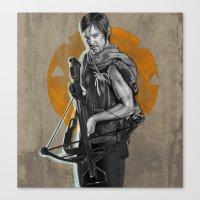 daryl dixon Canvas Prints featuring Daryl Dixon by Yan Ramirez