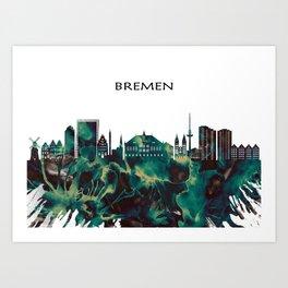 Bremen Skyline Art Print