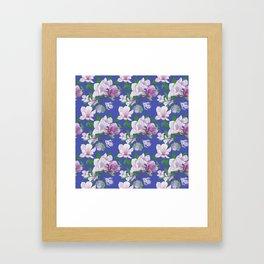 Magnolia Floral Print Framed Art Print