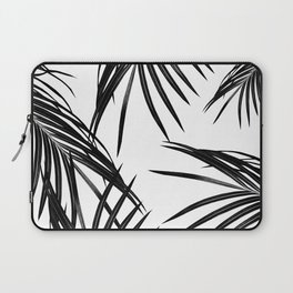 Black Palm Leaves Dream #1 #tropical #decor #art #society6 Laptop Sleeve