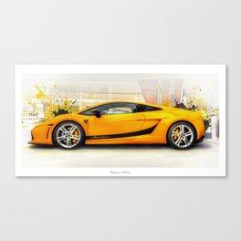 Golden Lambo Canvas Print