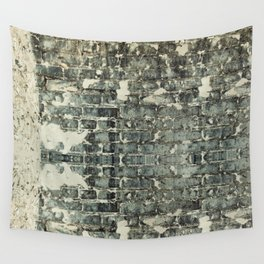 Gray Brick Wall Wall Tapestry