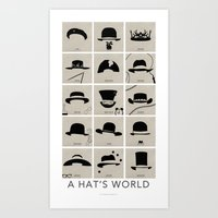 A Hat's World [Complete] Art Print