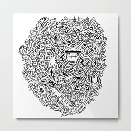 Doodle These! Metal Print