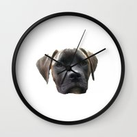 louis armstrong Wall Clocks featuring Louis by Laake-Photos