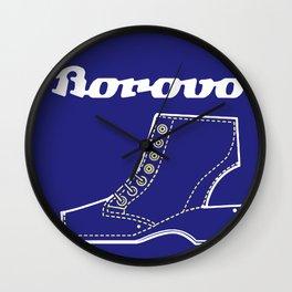 Borosana Borovo -  white nostalgic ortopedic shoe from Yugoslavia Wall Clock