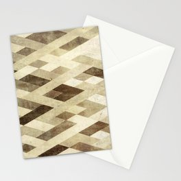 Abstract Pattern in Brown Stationery Cards