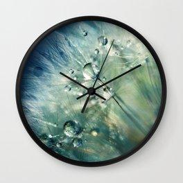 Dandelion Drama Wall Clock