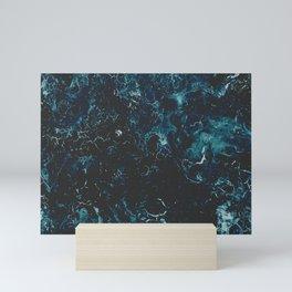 Painted Ocean Marbled Waters Mini Art Print