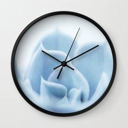 Blue Succulent #5 Wall Clock